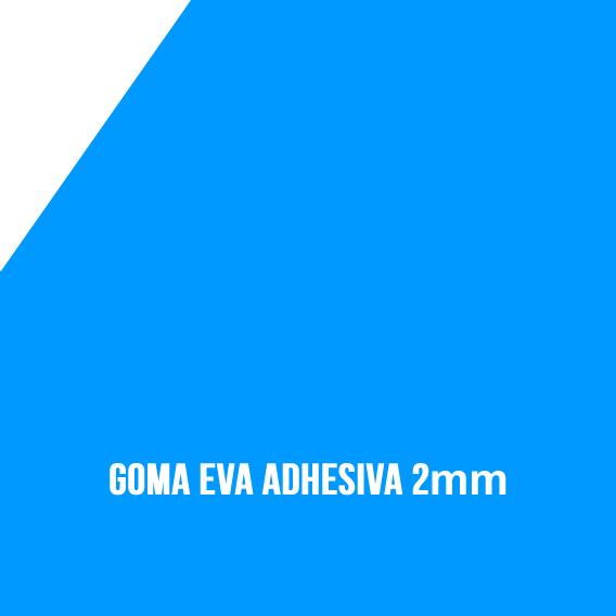 Goma Eva Adhesiva Turquesa 2mm