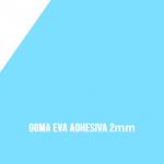 Goma Eva Adhesiva Celeste 2mm