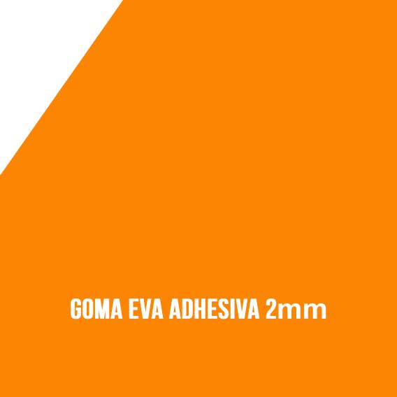 Goma Eva Adhesiva Naranja 2mm
