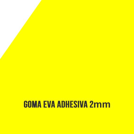 Goma Eva Adhesiva Amarilla 2mm