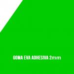 Goma Eva Adhesiva Verde 2mm