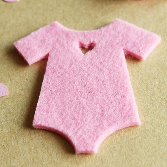 Formas Fieltro Trajecito Bebé Rosa
