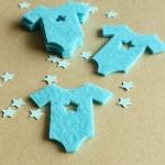 6 Formas Fieltro Trajecito Bebé Azul