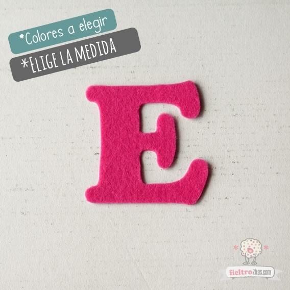 """Letras de fieltro Letra """"E"""""""