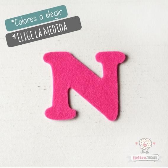 """Letras de fieltro Letra """"N"""