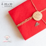 Fieltro Rojo 2mm (20x30cm)