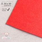Fieltro Rígido Rojo 2mm (20x30cm)