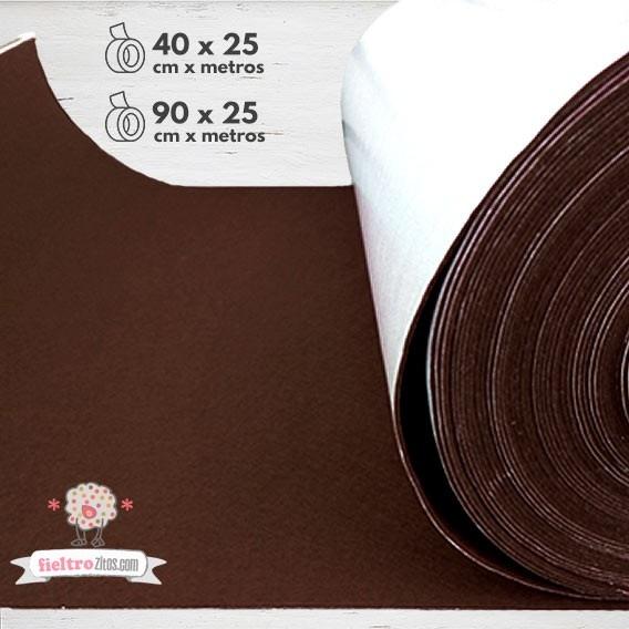 Rollo de Fieltro Adhesivo Chocolate.