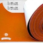 Rollo de Fieltro Adhesivo Naranja