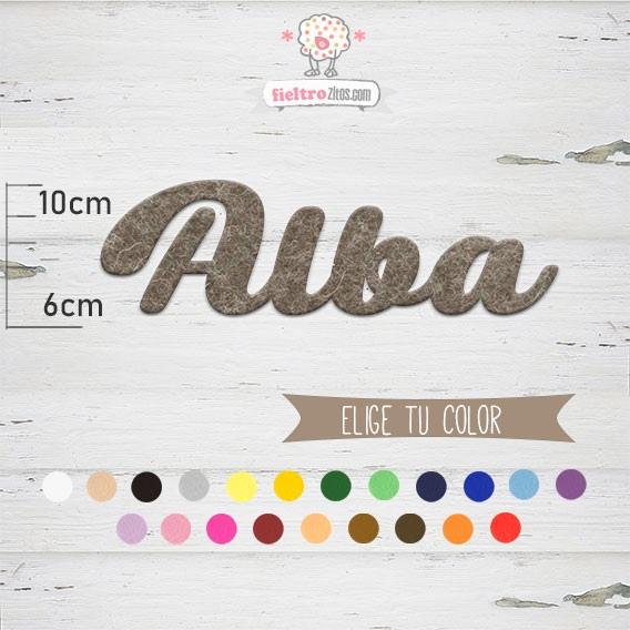 """Nombres de Fieltro """"Alba"""""""