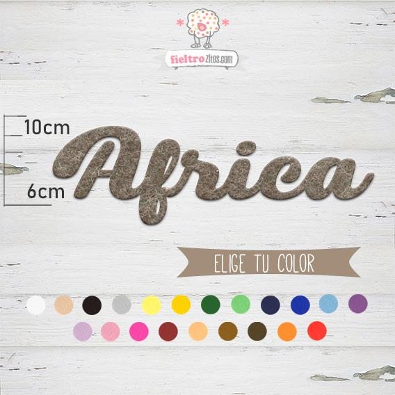 "Nombres de Fieltro ""Africa"""