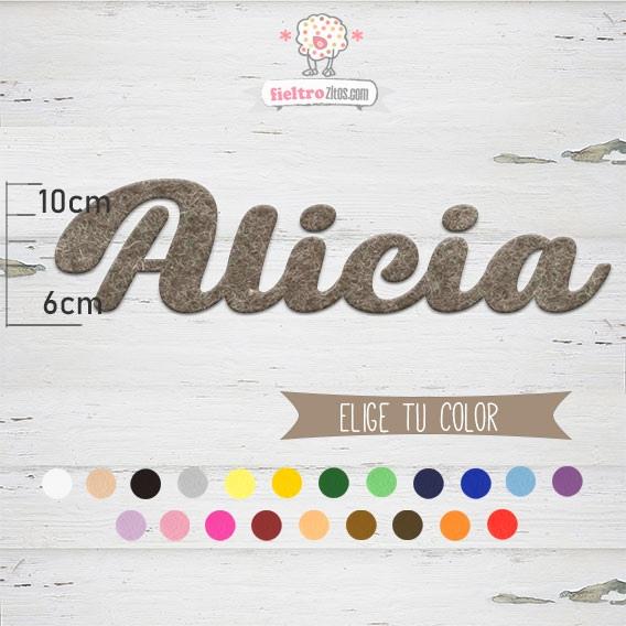 """Nombres de Fieltro """"Alica"""""""