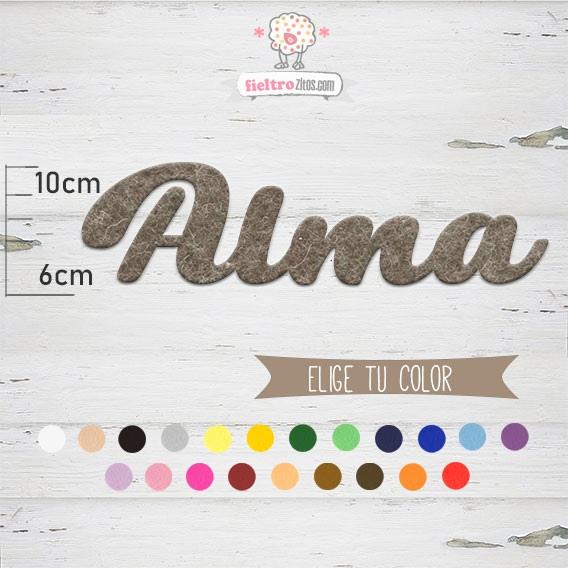 "Nombres de Fieltro ""Alma"""