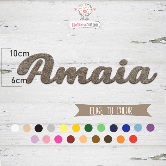 "Nombres de Fieltro ""Amaia"""