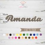 """Nombres de Fieltro """"Amanda"""""""