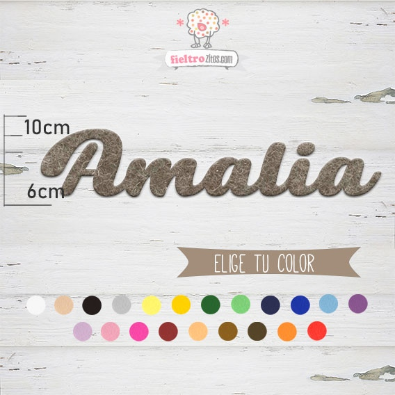 """Nombres de Fieltro """"Amalia"""""""