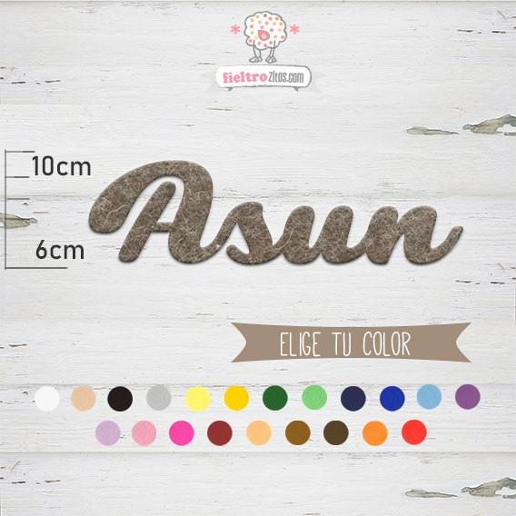 """Nombres de Fieltro """"Asun"""""""
