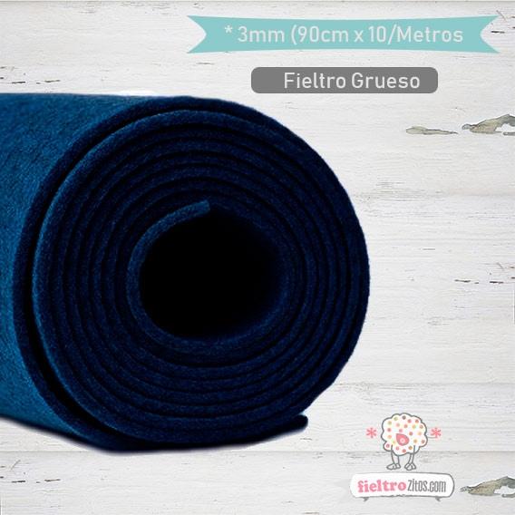 Fieltro Rollo Azul Real 3mm.