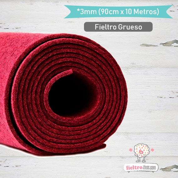 Fieltro Rollo Rojo 3mm.