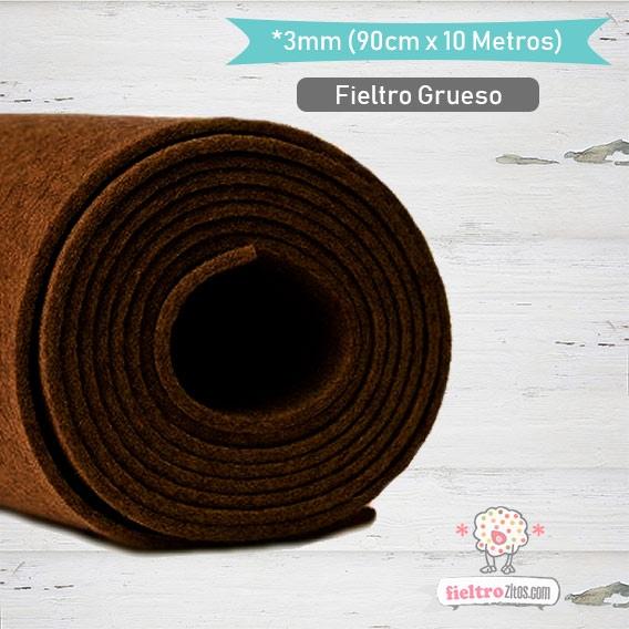 Fieltro Rollo Chocolate 3mm.