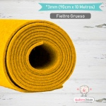 Fieltro Rollo Amarillo 3mm.