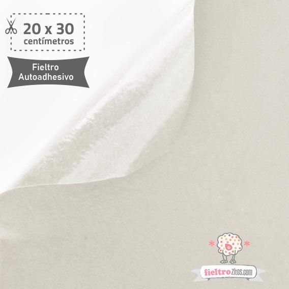 Fieltro Adhesivo Blanco (20x30cm)