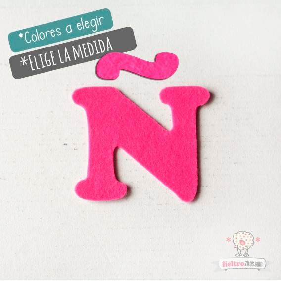 """Letras de fieltro Letra """"Ñ"""""""