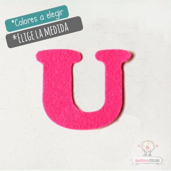"""Letras de fieltro Letra """"U"""""""