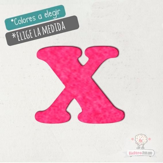 """Letras de fieltro Letra """"X"""""""