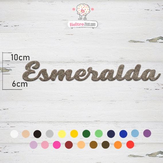 """Nombres de Fieltro """"Esmeralda"""""""