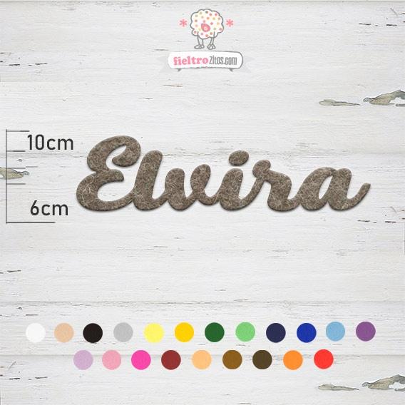 "Nombres de Fieltro ""Elvira"""