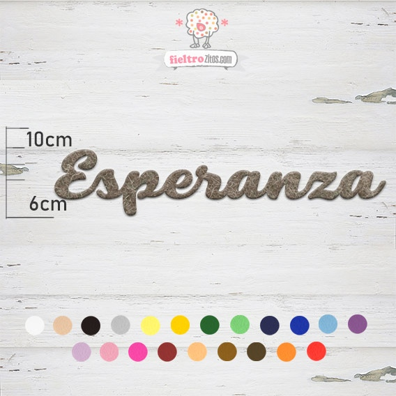 """Nombres de Fieltro """"Esperanza"""""""