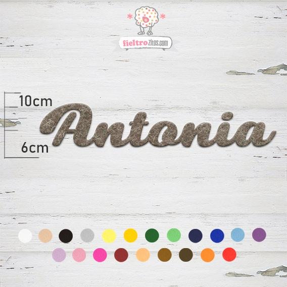 """Nombres de Fieltro """"Antonia"""""""