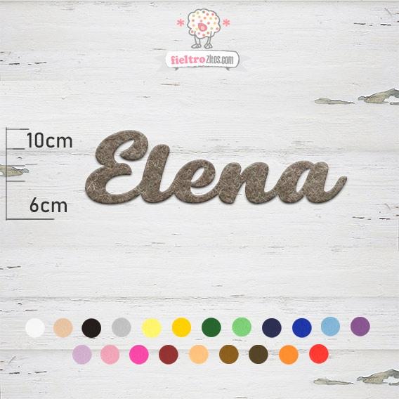 "Nombres de Fieltro ""Elena"""