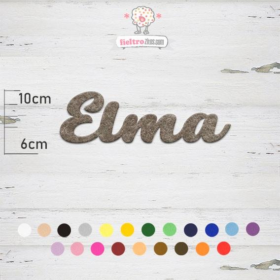 """Nombres de Fieltro """"Elma"""""""
