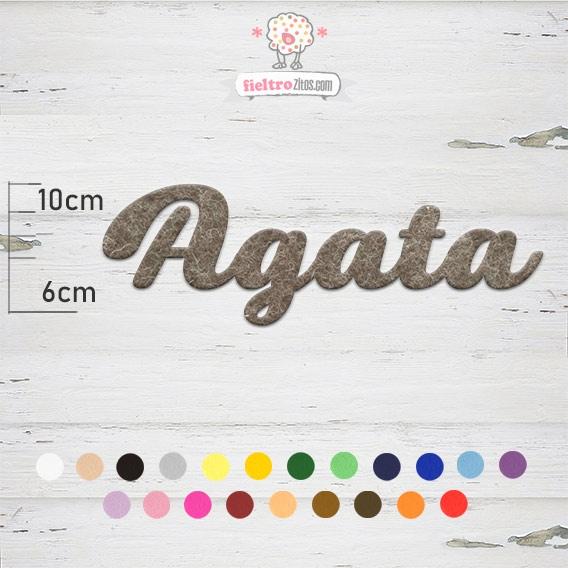 """Nombres de Fieltro """"Agata"""""""