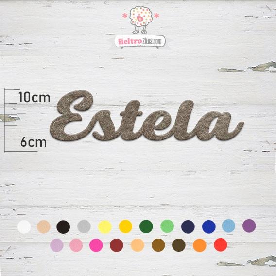 "Nombres de Fieltro ""Estela"""