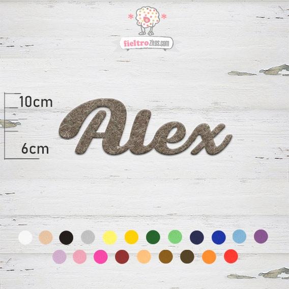 "Nombres de Fieltro ""Alex"""