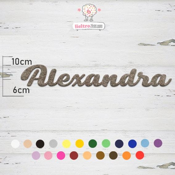 """Nombres de Fieltro """"Alexandra"""""""