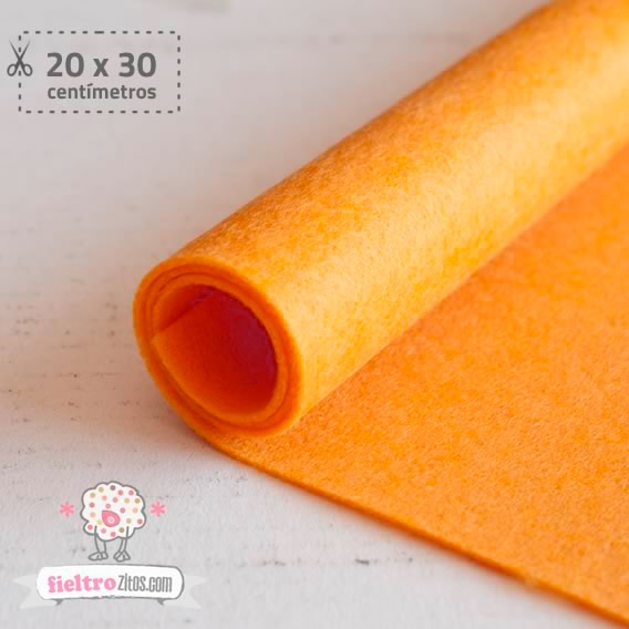 Fieltro Naranja 1mm (20x30cm)