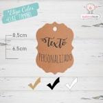 10 Etiquetas Colgantes Personalizadas Para Detalles de Boda
