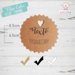 10 Etiquetas Colgantes Personalizadas Para Tartas y Pasteles