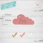 10 Etiquetas Colgantes Bautizo Personalizadas Nube Rosa