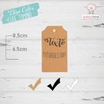 10 Etiquetas Colgantes Personalizadas Chaflan
