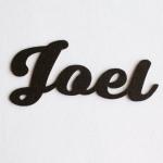 """Nombres de Fieltro """"Joel"""""""