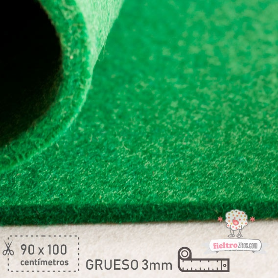 Fieltro Grueso Verde Billar