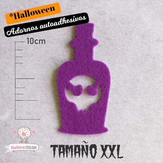 Adornos Botellas de Fieltro Halloween