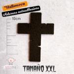 Adornos Cruz Negra de Fieltro Halloween