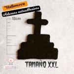 Adornos Tumbas Cruz Negra de Fieltro Halloween