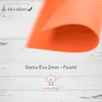Goma Eva Naranja 40x60cm y 2mm.